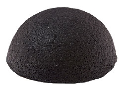 Купить Konjac Sponge Face half ball black